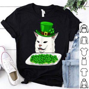 Beautiful Cat Meme Yelling St Patricks Day Irish Women Cat Lovers Gift shirt