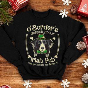 Beautiful Funny Irish Pub Border Collie Mother Mom Women Dad Dog shirt