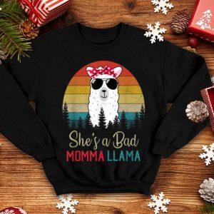 Beautiful Funny She's A Bad Momma Llama Mama Gift shirt