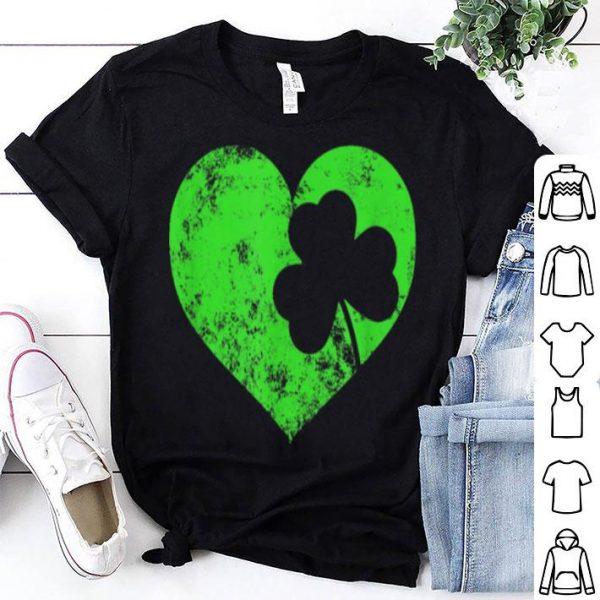 Beautiful I Love St Patrick's Day Cute Heart Shamrock Top Tee shirt