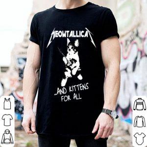 Cat Meowtallica and kittens for all shirt