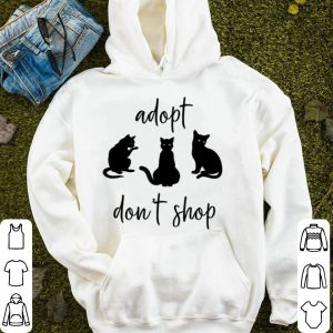Nice Adopt Don't Shop Cat Mama Cat Rescue shirt