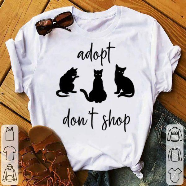Nice Adopt Don't Shop Cat Mama Cat Rescue shirt