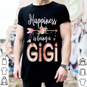 Nice Beautiful Happiness Is Being A Gigi Floral Mother's Day Gift Grandma shirt