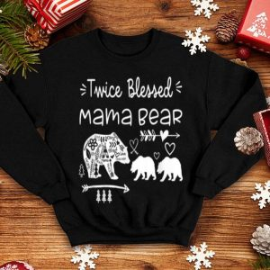 Nice Beautiful Twice Blessed Mama Bear Mother Of Two Or Twins Mom Gift shirt