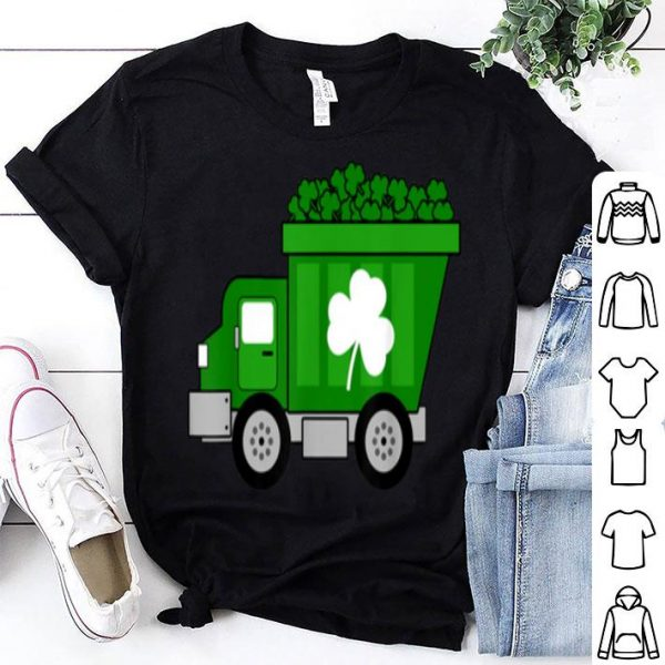 Official Boys Irish St Patricks Day Holiday Dump Truck shirt