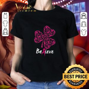 Official Breast cancer Awareness believe shamrock St. Patrick's day shirt 1