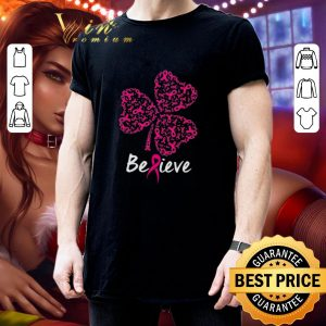 Official Breast cancer Awareness believe shamrock St. Patrick's day shirt 2