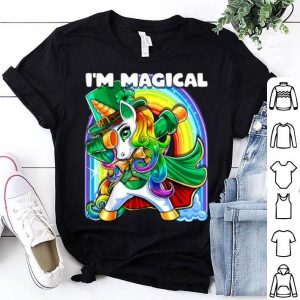 Official I'm Magical St. Patrick's Day Dabbing Unicorn Leprechaun shirt