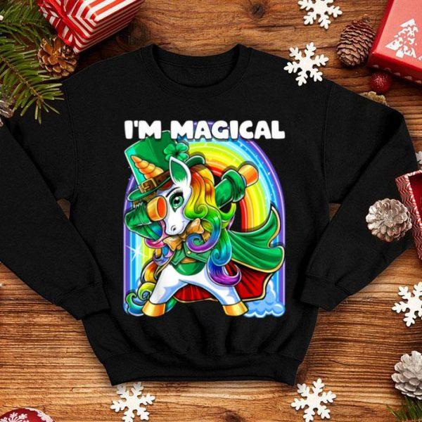 Official I'm Magical St. Patrick's Day Dabbing Unicorn Leprechaun shirt