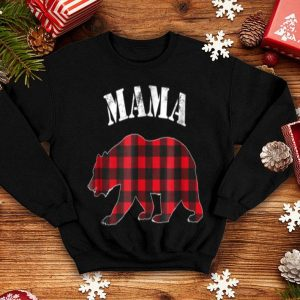 Original Red Plaid Mama Bear Buffalo Matching Family Pajama shirt