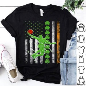 Premium Irish American Flag Lucky Basketball St Patrick's Day shirt