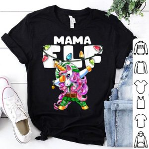 Premium Mama Elf Christmas Dabbing Unicorn Costume Gift For Women shirt