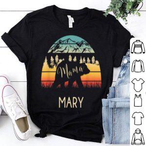 Premium Mary Name Gift Retro Sun Personalized Mama Bear shirt