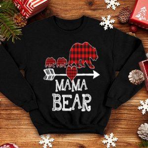 Premium Red Plaid Mama Bear Two Cubs Matching Buffalo Pajama Xmas shirt