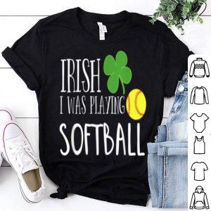 Pretty Irish Softball St Patricks Day For Kids Shamrock shirt