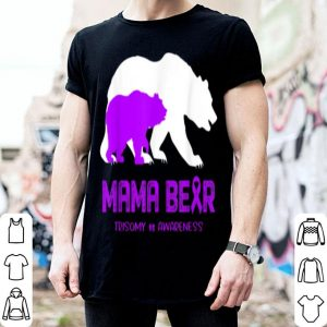 Pretty Mama Bear Trisomy 18 Awareness For Women Men shirt