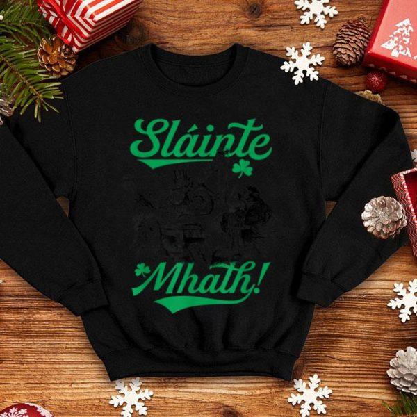 Pretty Slainte Mhath Irish Gaelic Funny St Patricks Day Drinking shirt