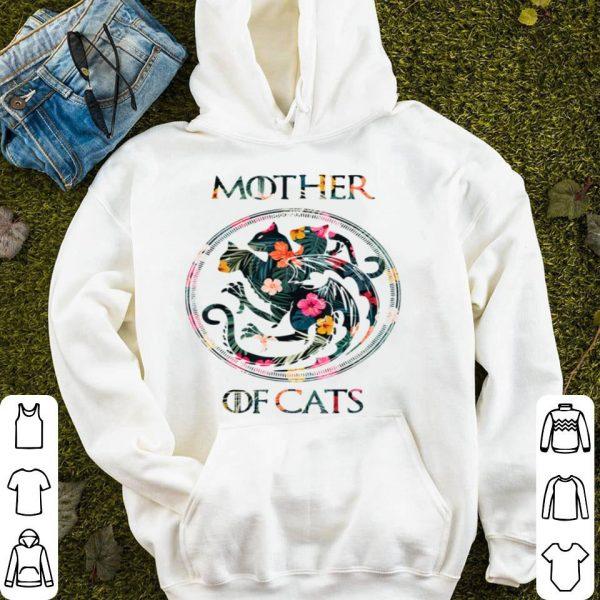 Top Cat Lovers - Mother Of Cats Mix Flower shirt