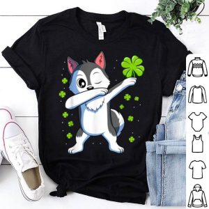 Top Dabbing Siberian Husky St Patricks Day Gift Boys Girls Dab shirt