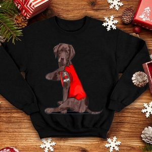 Top Original Chocolate Lab Labrador Mom Tattoo Funny Mama Mother Dog Gift shirt