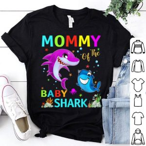 Top Original Mommy Of The Baby Shark Birthday Mommy Shark Mother's Day shirt