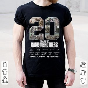 Awesome 20 Years Of Band Of Brothers Thank You For The Memories Signatures shirt