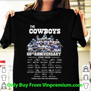 Awesome The Cowboys 60th Anniversary Thank You For The Memories Signatures shirt