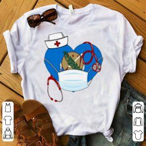 Top Oklahoma Heart Mask Nurse Protection shirt