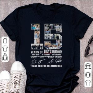 15 Years Of Grey's Anatomy – Thank You For The Memories shirt