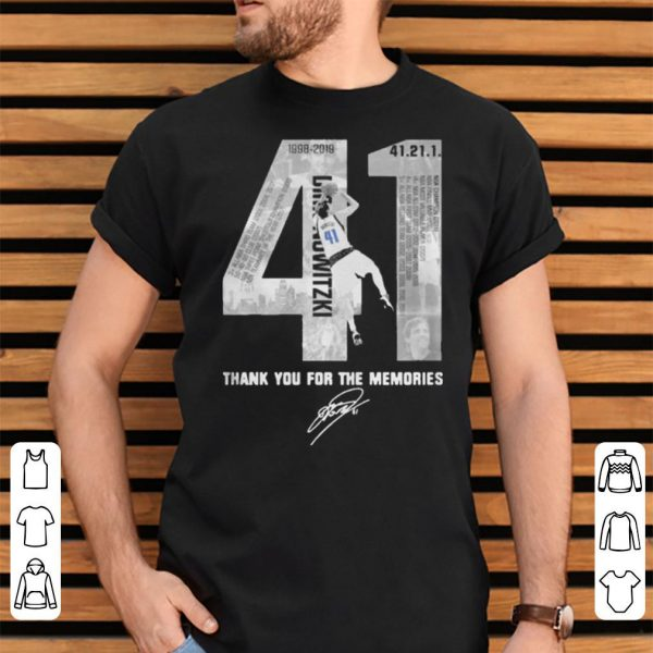 41 Dirk Nowitzki Thank You For The Memories Signature shirt