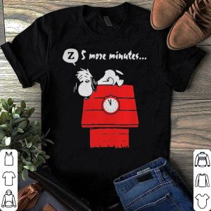 5 more minutes snoopy Sleep and the Red Baron shirt