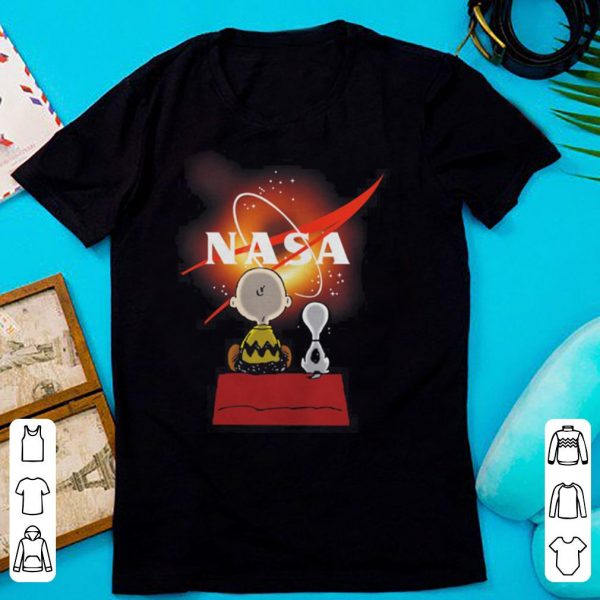 Snoopy and Charlie Brown NASA Black Hole 2019 shirt