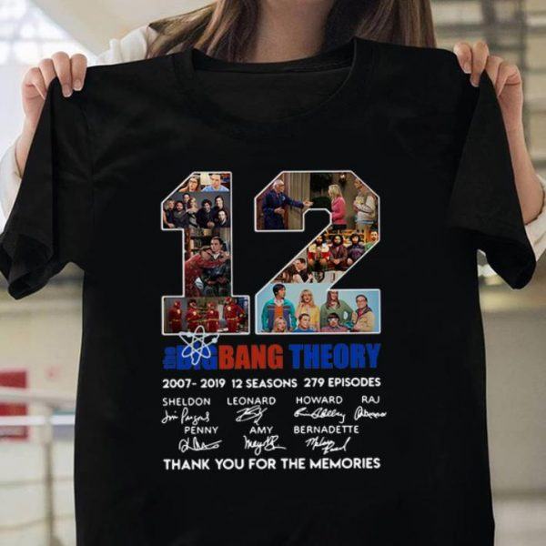 12 Years The Big Bang Theory Thank You For The Memories Signature shirt