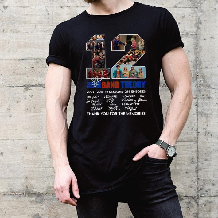 3ee4da7a736 12 Years The Big Bang Theory Thank You For The Memories Signature shirt
