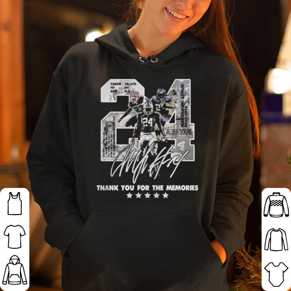 24 Marshawn Lynch thank you for the memories shirt 4 - 24 Marshawn Lynch thank you for the memories shirt