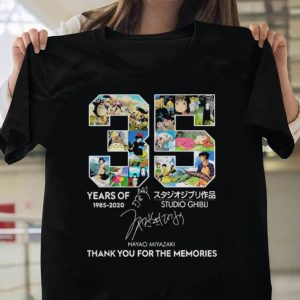 35 year of Studio Ghibli 1985-2020 Hayao Miyazaki Thank you for the memories shirt