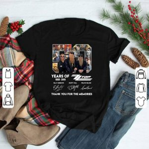 50 Years Of Zz Top Thank You For Memories Signature shirt