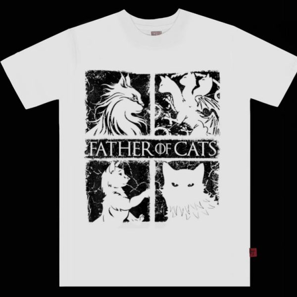Father of Lovely Cats - Cat Lovers Cat Dad Gift shirt