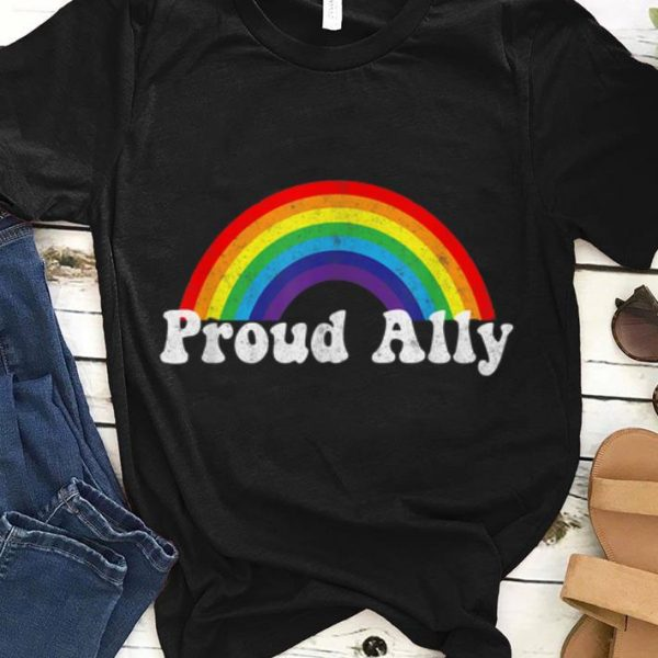 Proud Ally LBGT Rainbow shirt