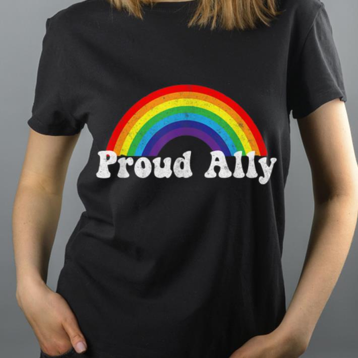 Proud Ally LBGT Rainbow shirt 4 - Proud Ally LBGT Rainbow shirt
