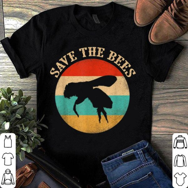 Save The Bees Vantage Distressed Honey Bee shirt