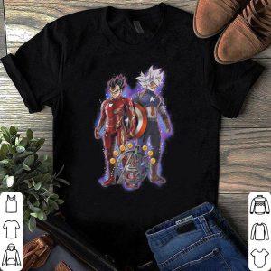 Son Goku and Vegeta Dragon ball super Marvel Avengers Endgame shirt
