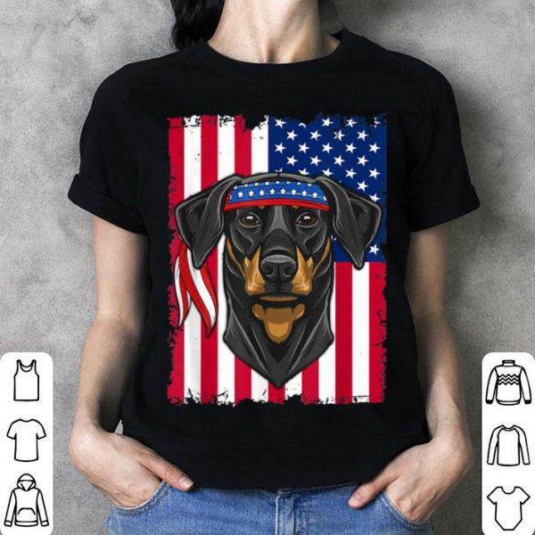 4th Of July Flag Usa Doberman Pinscher Dog Lover Shirt