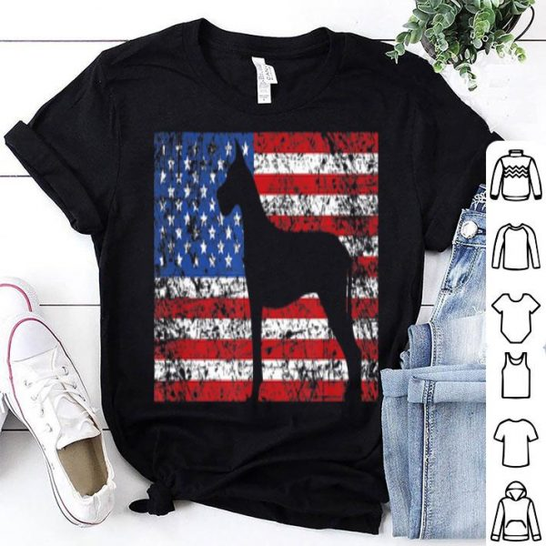 American Flag Great Dane Dog 4th Of July Usa Gift Shirt