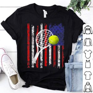 American Flag Vintage Tennis Flag Dad Mom shirt
