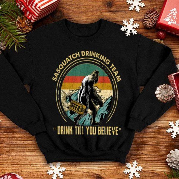 Bigfoot Sasquatch Drinking Team Drink Vintage Shirt