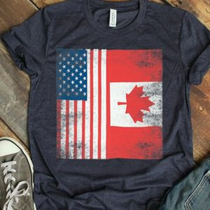 Canada American Canadian Flag 4th Julys shirt