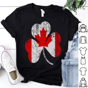 Canada Flag Irish Shamrock Canadian Canada Day shirt