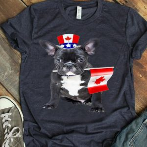 Canada Maple Leaf Frenchbulldog Canadian Flags Shirt